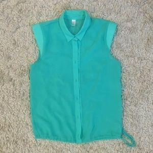 American apparel sleeveless chiffon blouse top